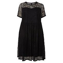 Dorothy Perkins - Dp curve black lace fit and flare dress