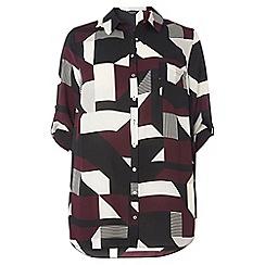 Dorothy Perkins - Dp curve purple geo longline shirt