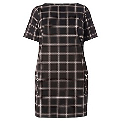 Dorothy Perkins - Dp curve navy check shift dress