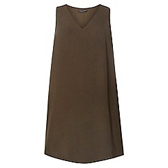 Dorothy Perkins - Khaki curve split side top