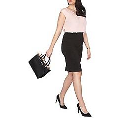 Dorothy Perkins - Curve black bengaline pull on skirt