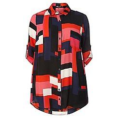 Dorothy Perkins - Dp curve fuschia colour block top