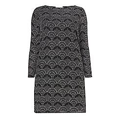 Dorothy Perkins - Dp curve black oval glitter bodycon dress