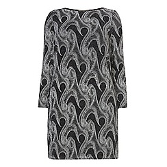 Dorothy Perkins - Dp curve silver swirl glitter bodycon dress