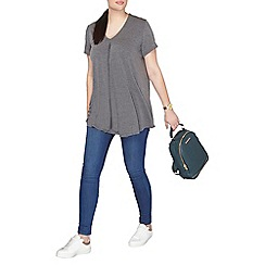 Dorothy Perkins - Charcoal curve front pleated t-shirt