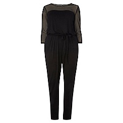 Dorothy Perkins - Dp curve black mesh yoke jumpsuit