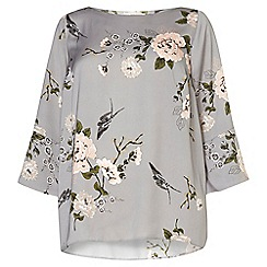 Dorothy Perkins - Dp curve grey oriental foral soft top