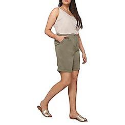 Dorothy Perkins - Curve khaki chino shorts