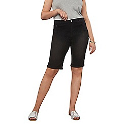 Dorothy Perkins - Curve black knee shorts
