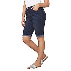 Dorothy Perkins - Curve knee shorts in midwash