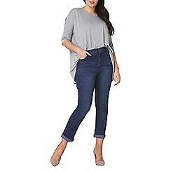 Dorothy Perkins - Curve boyfriend midwash jeans