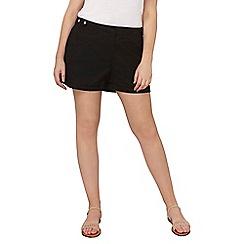 Dorothy Perkins - Curve black poplin shorts