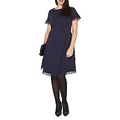 Dorothy Perkins - Curve navy lace trim dress
