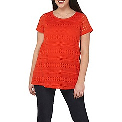 Dorothy Perkins - Curve geo lace front t-shirt