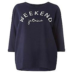 Dorothy Perkins - Curve 'weekend' motif sweatshirt