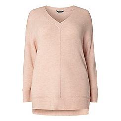 Dorothy Perkins - Curve pink v-neck jumper