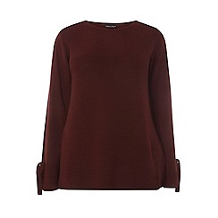 Dorothy Perkins - Curve berry ribbed tie sleeves jumper