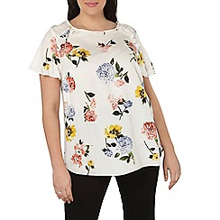 Dorothy Perkins - Curve floral ruffle soft t-shirt
