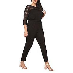 Dorothy Perkins - Curve black lace jumpsuit