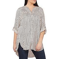 Dorothy Perkins - Curve black spot print shirt