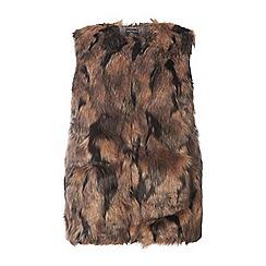 Dorothy Perkins - Curve marble faux fur gilet