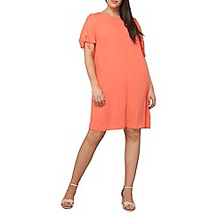 Dorothy Perkins - Curve coral tie sleeves shift dress