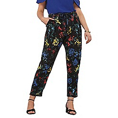 Dorothy Perkins - Curve floral tie waist joggers