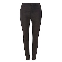 Dorothy Perkins - Curve leather look skinny fit jeans