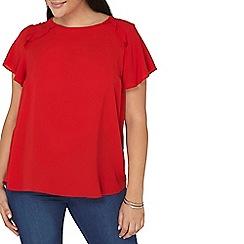 Dorothy Perkins - Red flutter sleeves top
