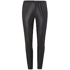 Dorothy Perkins - Curve black faux leather leggings