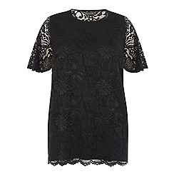 Dorothy Perkins - Curve flute sleeves lace t-shirt