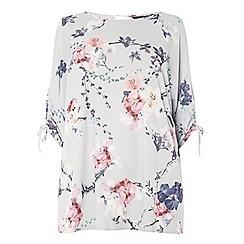 Dorothy Perkins - Curve floral print drawcord top