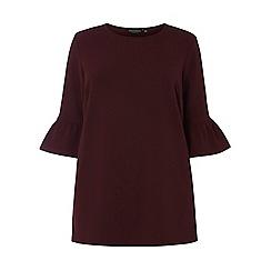 Dorothy Perkins - Burgundy textured crepe tunic
