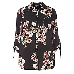 Dorothy Perkins - Curve multicolored floral drawcord shirt