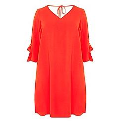 Dorothy Perkins - Red v-neck swing dress