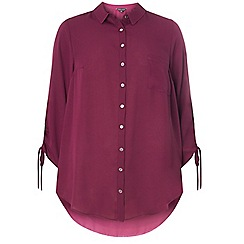 Dorothy Perkins - Purple drawcord detail shirt