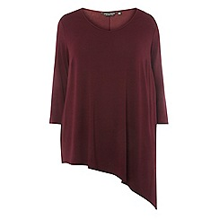 Dorothy Perkins - Curve purple asymmetrical hem t-shirt