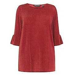 Dorothy Perkins - Red glitter flute sleeve tunic
