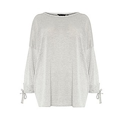 Dorothy Perkins - Curve silver balloon sleeves top