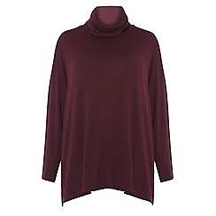 Dorothy Perkins - Curve aubergine soft touch jumper