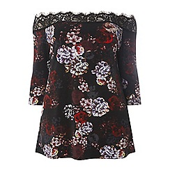 Dorothy Perkins - Dp curve multi coloured floral print bardot top