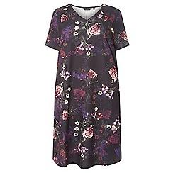 Dorothy Perkins - Curve purple floral print shift dress