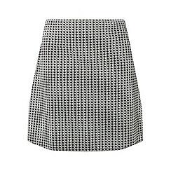 Dorothy Perkins - Dp curve monochrome geometric print jacquard skirt