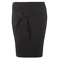 Dorothy Perkins - Dp curve black tie front pencil skirt