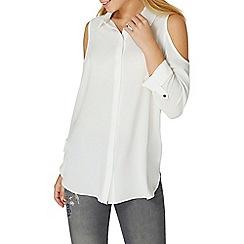 Dorothy Perkins - Ivory cold shoulder shirt