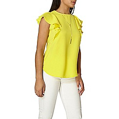Dorothy Perkins - Yellow ruffle necklace t-shirt