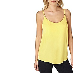 Dorothy Perkins - Yellow trim detailed camisole top