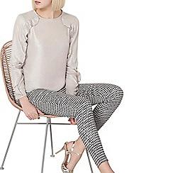 Dorothy Perkins - Shimmer ruffle long sleeves top