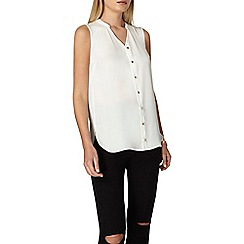 Dorothy Perkins - Ivory sleeveless shirt