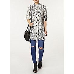 Dorothy Perkins - Ivory floral longline shirt